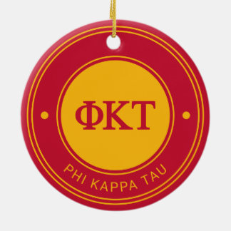 Phi Kappa Tau | Badge Round Ceramic Decoration