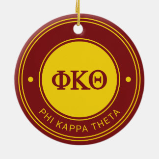 Phi Kappa Theta | Badge Ceramic Ornament