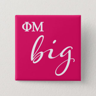 Phi Mu Big Script 15 Cm Square Badge