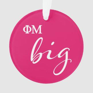 Phi Mu Big Script Ornament