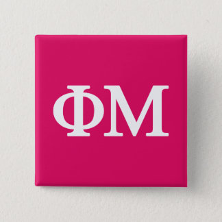 Phi Mu Lil Big Logo 15 Cm Square Badge