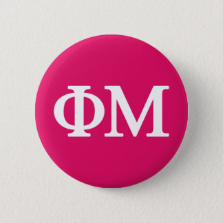Phi Mu Lil Big Logo 6 Cm Round Badge