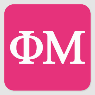 Phi Mu Lil Big Logo Square Sticker