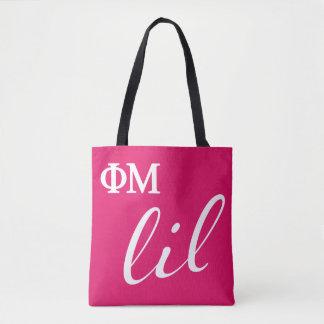 Phi Mu Lil Script Tote Bag