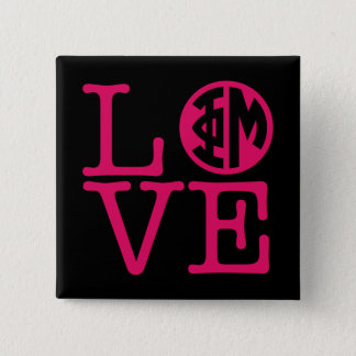 Phi Mu Love 15 Cm Square Badge