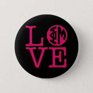 Phi Mu Love 6 Cm Round Badge