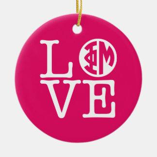 Phi Mu Love Ceramic Ornament
