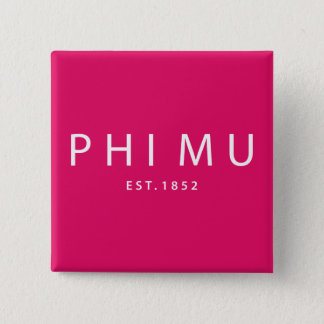 Phi Mu Modern Type 15 Cm Square Badge