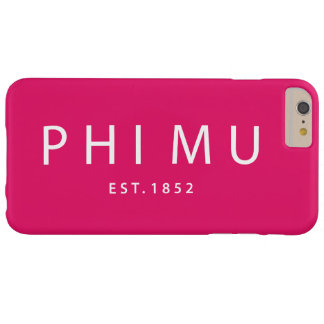 Phi Mu Modern Type Barely There iPhone 6 Plus Case
