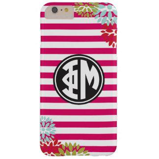 Phi Mu   Monogram Stripe Pattern Barely There iPhone 6 Plus Case