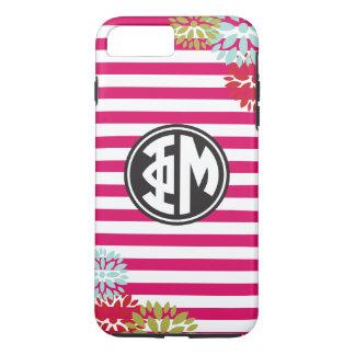 Phi Mu | Monogram Stripe Pattern iPhone 8 Plus/7 Plus Case