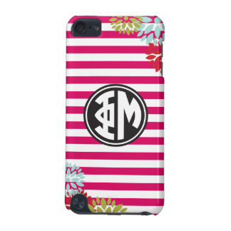 Phi Mu | Monogram Stripe Pattern iPod Touch (5th Generation) Cases