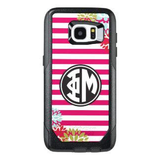 Phi Mu | Monogram Stripe Pattern OtterBox Samsung Galaxy S7 Edge Case