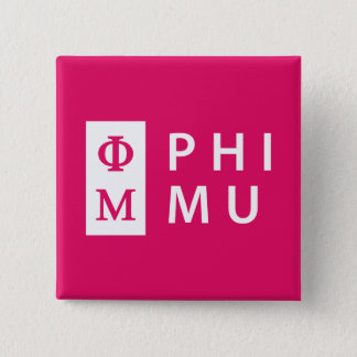 Phi Mu Stacked 15 Cm Square Badge