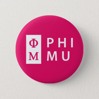 Phi Mu Stacked 6 Cm Round Badge