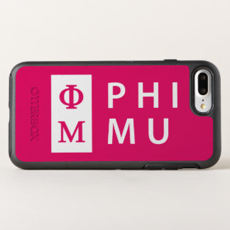 Phi Mu Stacked OtterBox Symmetry iPhone 8 Plus/7 Plus Case