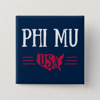 Phi Mu - USA 15 Cm Square Badge