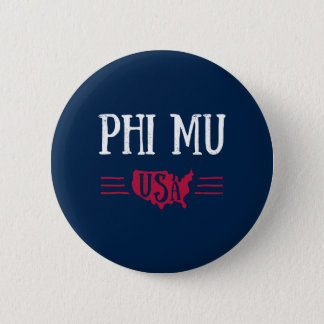 Phi Mu - USA 6 Cm Round Badge