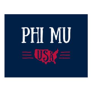 Phi Mu - USA Postcard