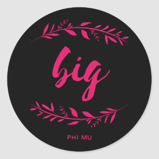 Phi Mu Wreath Big Classic Round Sticker