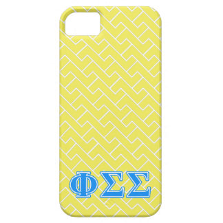 Phi Sigma Sigma Blue Letters iPhone 5 Covers