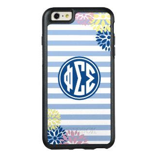 Phi Sigma Sigma   Monogram Stripe Pattern OtterBox iPhone 6/6s Plus Case