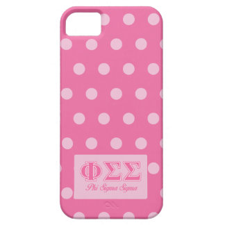 Phi Sigma Sigma Pink Letters iPhone 5 Covers
