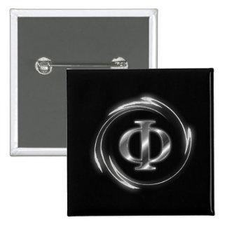Phi symbol pinback buttons
