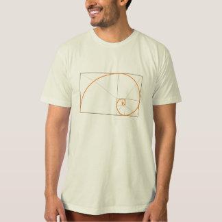 Phi, the Golden Ratio. (organic colors) T-Shirt