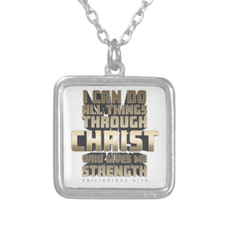 Phil4:13 I can do All things through Christ Silver Plated Necklace