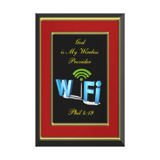 Phil 4:19 God is My Wireless Provider Canvas Print