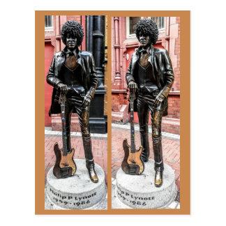 Phil Lynott Statue, Dublin, Ireland Postcard