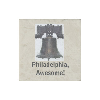 Philadelphia, Awesome!/ Liberty Bell Magnet Stone Magnet