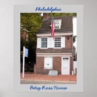 Philadelphia Betsy Ross House Poster