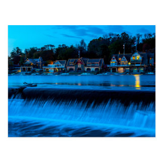 Philadelphia Boathouse Row At Sunset Postcard