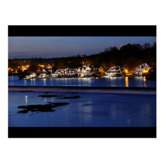 Philadelphia Boathouse Row at Twilight Postcard