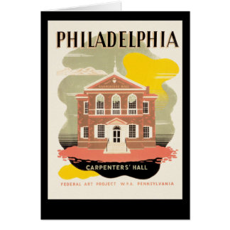 Philadelphia Carpenter's Hall Card