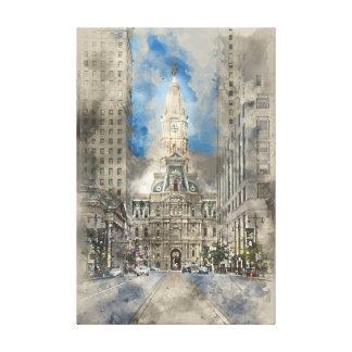 Philadelphia City Hall on Broad Street Canvas Print