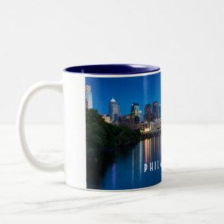 Philadelphia City Skyline at Night Souvenir Mug
