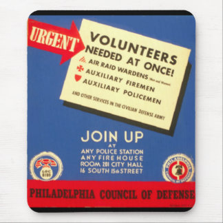Philadelphia Council Of Defense  Join now - Mouse Pad