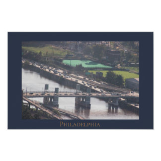 Philadelphia Highway Aerial View Poster