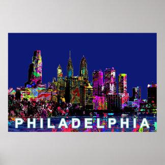 Philadelphia in graffiti poster