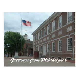 Philadelphia Independence Hall Postcard