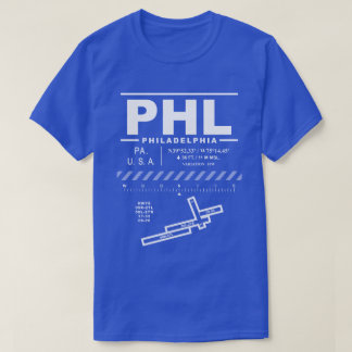 Philadelphia International Airport PHL Tee Shirt