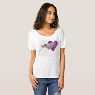 Philadelphia Morning Dove on White Tee
