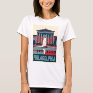 Philadelphia Museum in Blue T-Shirt