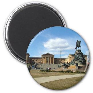 Philadelphia Museum of Fine Arts 6 Cm Round Magnet