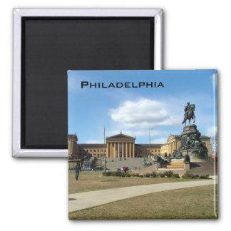 Philadelphia Museum of Fine Arts Square Magnet