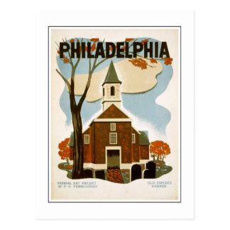 Philadelphia Old Swedes Church Postcard