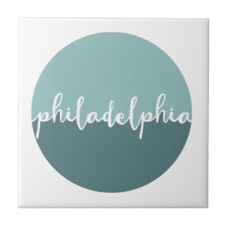 Philadelphia, PA | Blue Ombre Circle Tile